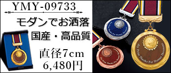 表彰用の金銀銅メダル、現代的でお洒落なデザイン
