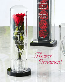 メッセージを刻んで大切な人に一輪の薔薇を